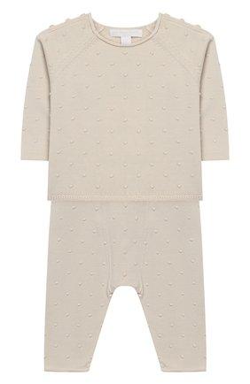 Комплект из хлопкового пуловера и брюк | Фото №1