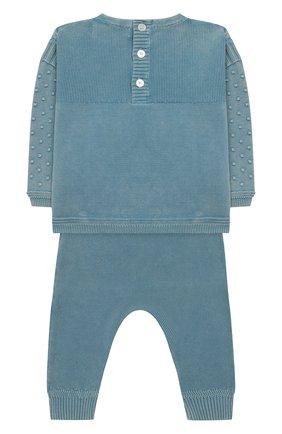 Детский комплект из хлопкового пуловера и брюк BURBERRY голубого цвета, арт. 8006670 | Фото 2
