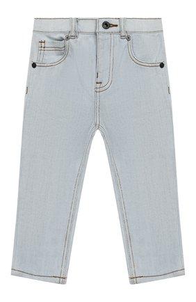 Детские джинсы прямого кроя BURBERRY голубого цвета, арт. 8007461 | Фото 1