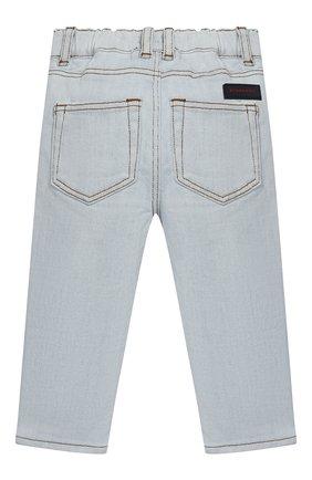 Детские джинсы прямого кроя BURBERRY голубого цвета, арт. 8007461 | Фото 2