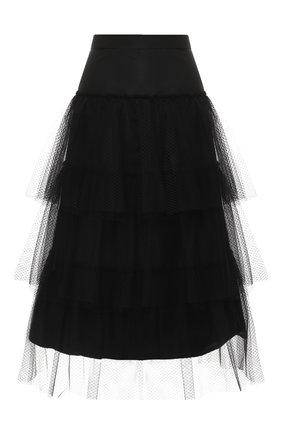 Многоярусная юбка-миди | Фото №1