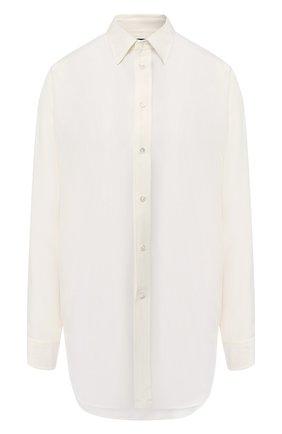 Шелковая блузка с бахромой | Фото №1