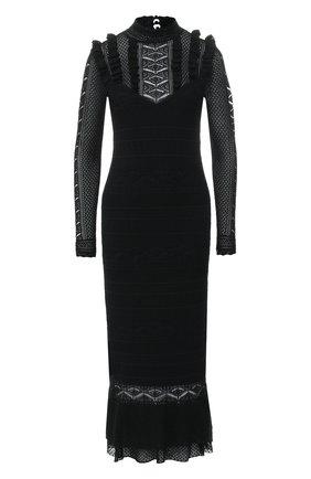 Вязаное платье с воротником-стойкой | Фото №1