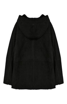Детская дубленка с капюшоном YVES SALOMON ENFANT черного цвета, арт. 9WEV908XXMERL/8-12 | Фото 2