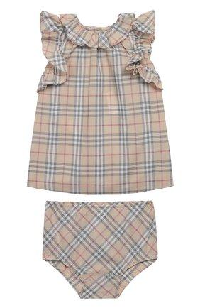 Комплект из хлопкового платья и трусов | Фото №1