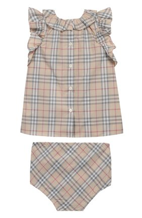 Комплект из хлопкового платья и трусов | Фото №2