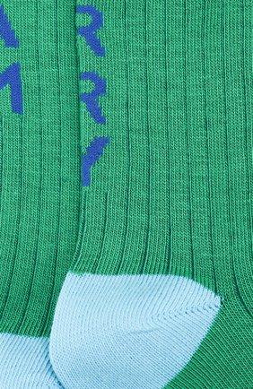 Детские хлопковые носки Burberry разноцветного цвета | Фото №2