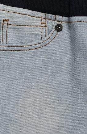Детские джинсы с поясом на кулиске BURBERRY голубого цвета, арт. 8007463 | Фото 3