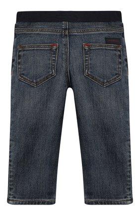 Детские джинсы с поясом на кулиске BURBERRY синего цвета, арт. 8007464 | Фото 2