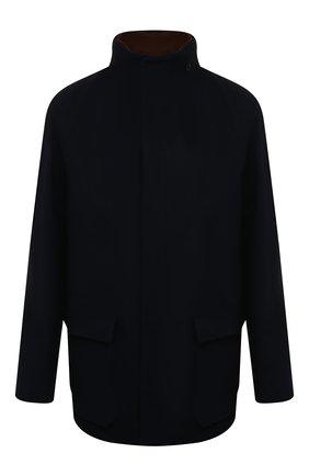 Утепленная куртка из кашемира на молнии с капюшоном | Фото №1