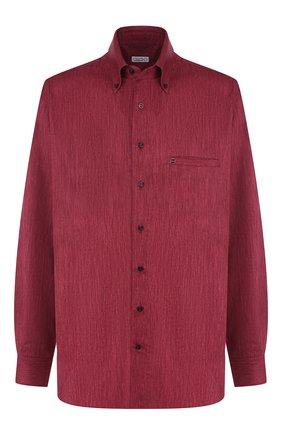 Мужская хлопковая рубашка с воротником button down ZILLI бордового цвета, арт. MFQ-01501-17004/RE01 | Фото 1
