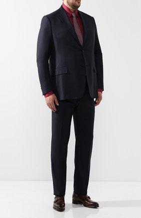 Мужская хлопковая рубашка с воротником button down ZILLI бордового цвета, арт. MFQ-01501-17004/RE01 | Фото 2
