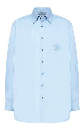 Мужская хлопковая сорочка с воротником кент ZILLI голубого цвета, арт. MFQ-00202-01417/RE01 | Фото 1