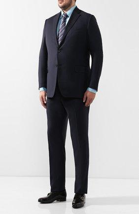 Мужская хлопковая сорочка с воротником кент ZILLI голубого цвета, арт. MFQ-00202-01417/RE01 | Фото 2
