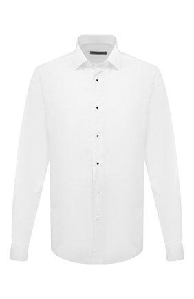 Мужская хлопковая сорочка для смокинга CORNELIANI белого цвета, арт. 82P197-8811084/00 | Фото 1