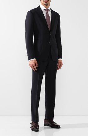 Мужской шерстяной костюм с пиджаком на двух пуговицах Z ZEGNA темно-синего цвета, арт. 424725/2XPWGN | Фото 1