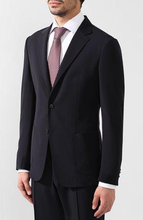 Мужской шерстяной костюм с пиджаком на двух пуговицах Z ZEGNA темно-синего цвета, арт. 424725/2XPWGN | Фото 2