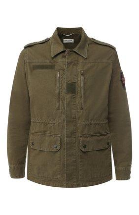 Хлопковая куртка на пуговицах | Фото №1