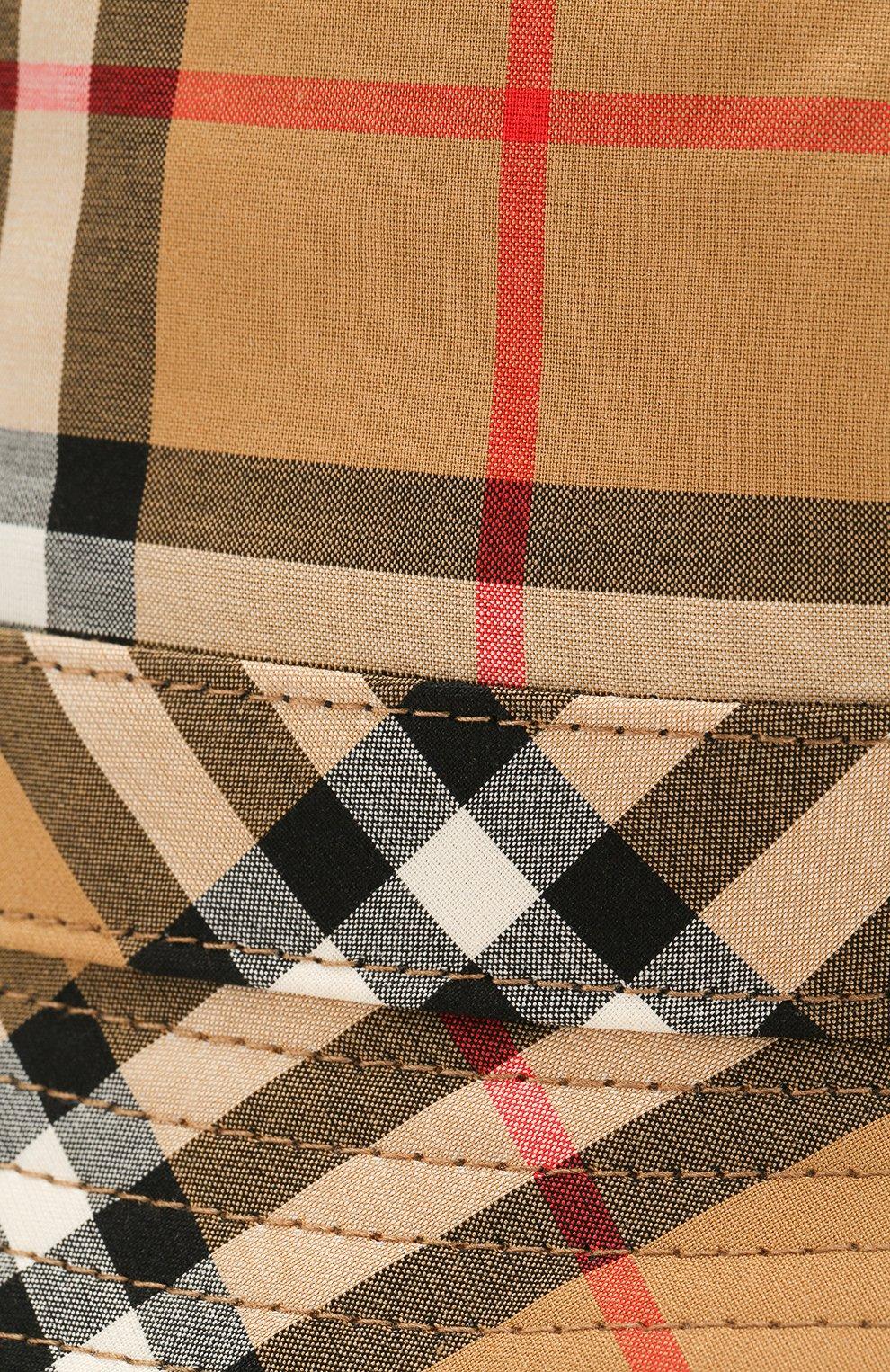 Хлопковая панама Burberry бежевого цвета   Фото №3