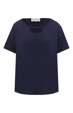 Однотонная футболка из хлопка   Фото №1