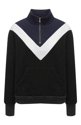 Хлопковый пуловер с молнией | Фото №1