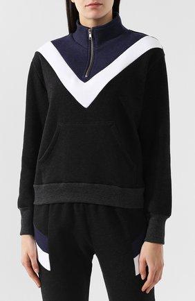 Хлопковый пуловер с молнией | Фото №3
