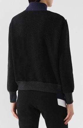 Хлопковый пуловер с молнией | Фото №4
