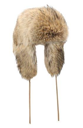 Мужская меховая шапка-ушанка барни FURLAND бежевого цвета, арт. 0170212510001200000 | Фото 1