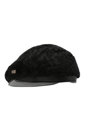 Мужская кепи из меха каракульчи KUSSENKOVV черного цвета, арт. 357100002114 | Фото 2
