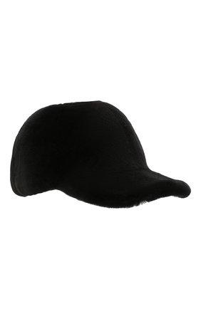 Мужской норковая бейсболка KUSSENKOVV черного цвета, арт. 381510002140 | Фото 1