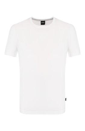 Мужская хлопковая футболка BOSS белого цвета, арт. 50379310   Фото 1