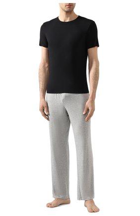 Мужская футболка DEREK ROSE черного цвета, арт. 8007-ALEX001 | Фото 2