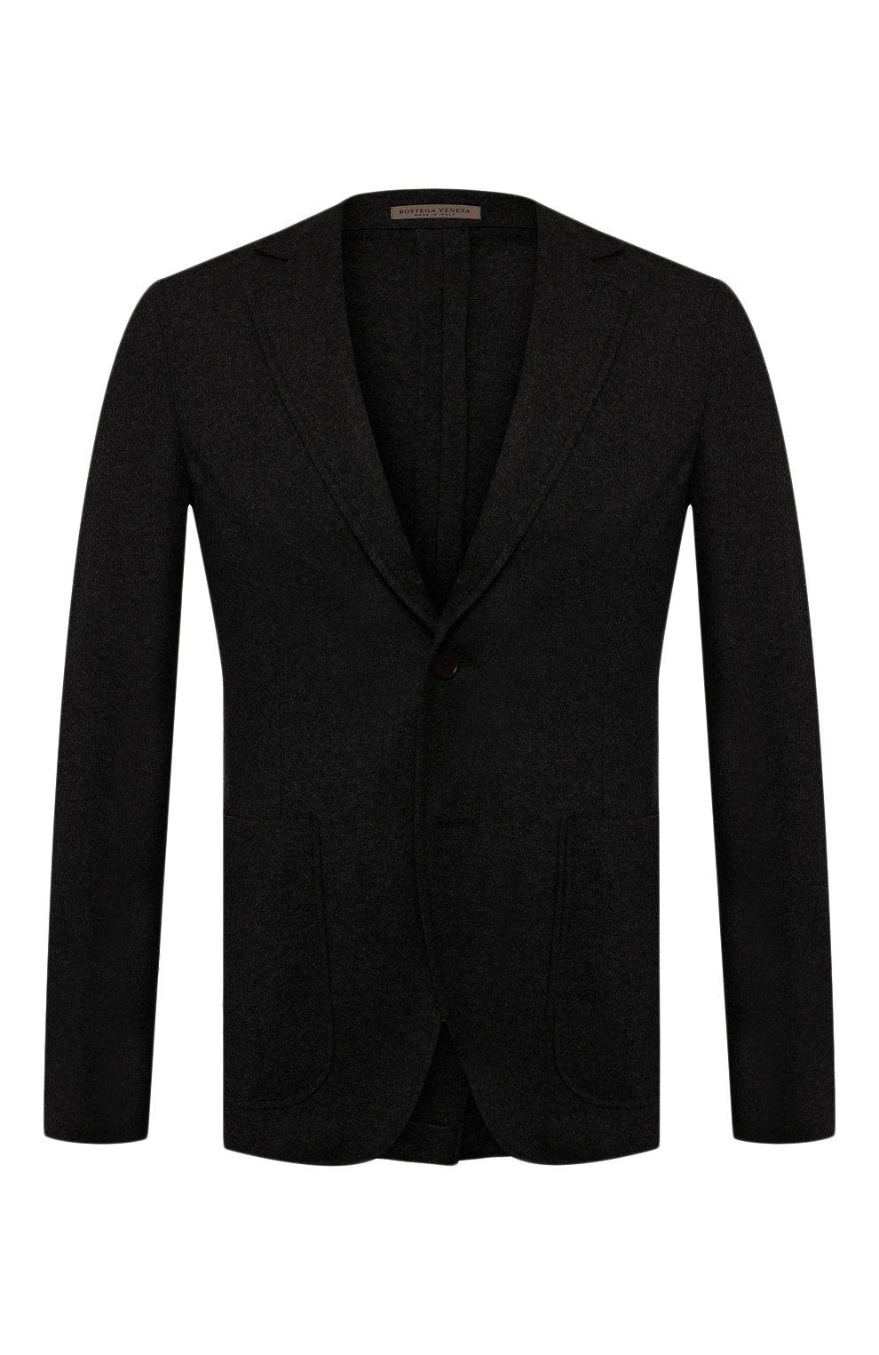 Мужской кашемировый пиджак BOTTEGA VENETA черного цвета, арт. 513767/VELA0 | Фото 1