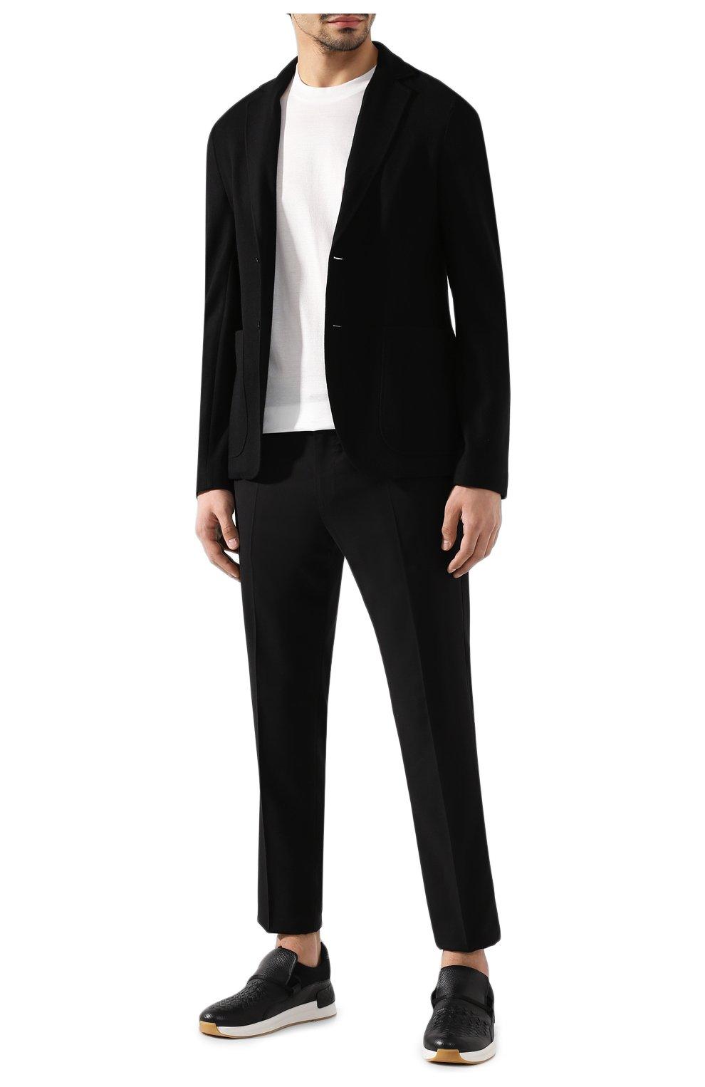 Мужской кашемировый пиджак BOTTEGA VENETA черного цвета, арт. 513767/VELA0 | Фото 2
