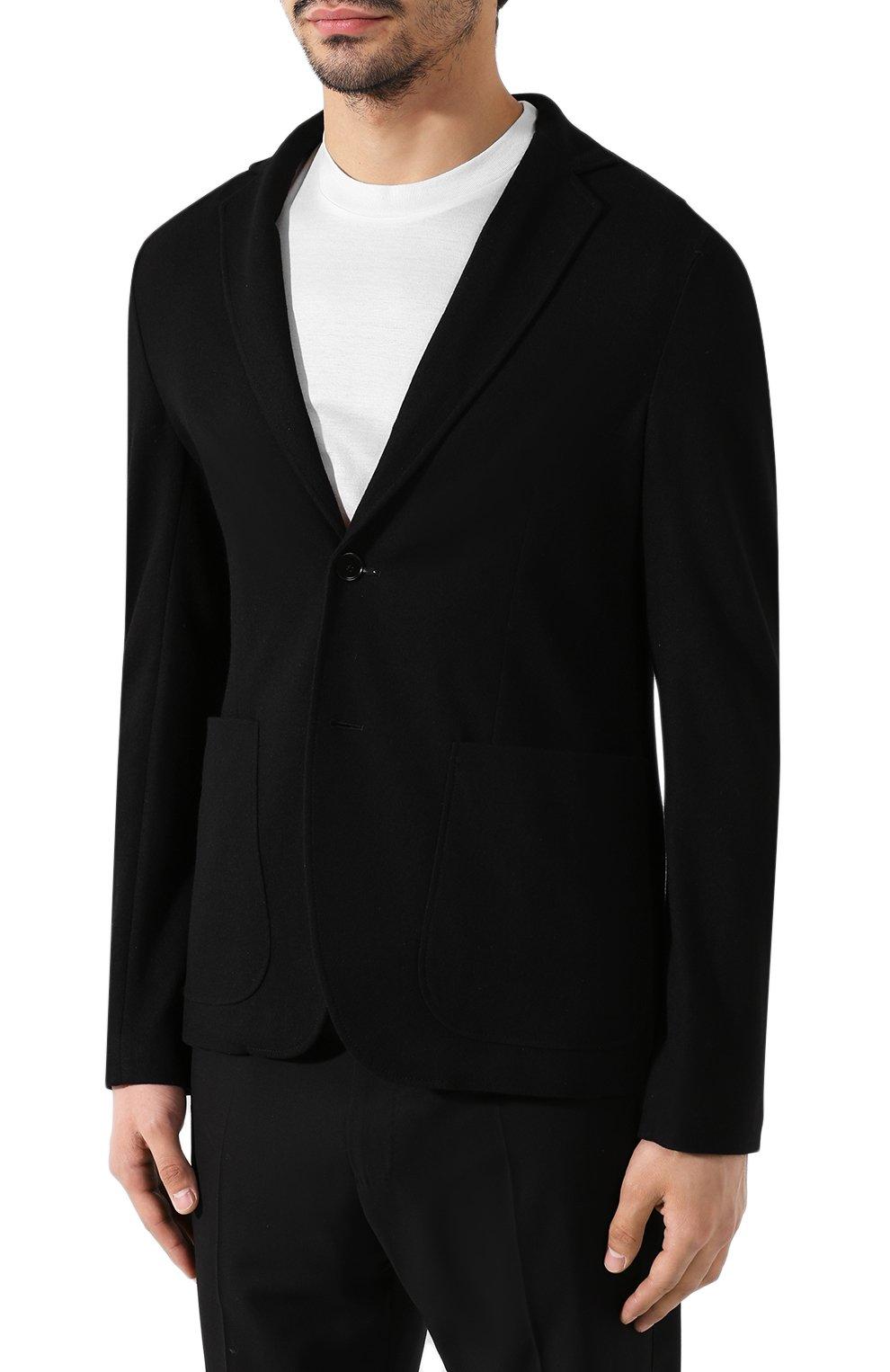 Мужской кашемировый пиджак BOTTEGA VENETA черного цвета, арт. 513767/VELA0 | Фото 3