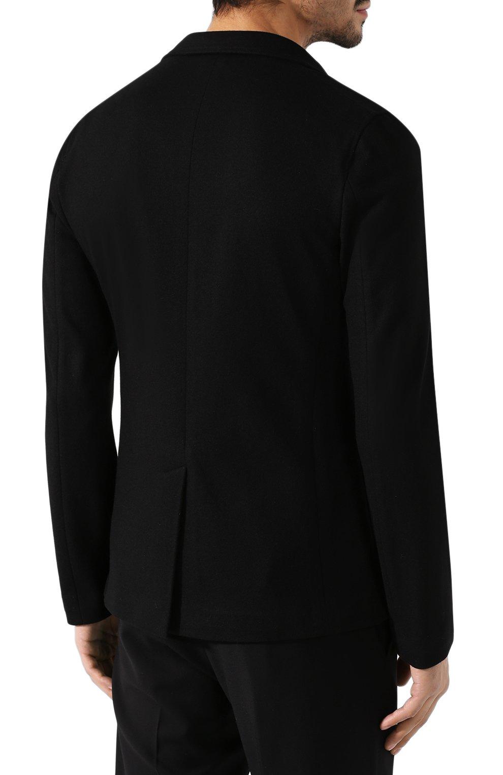 Мужской кашемировый пиджак BOTTEGA VENETA черного цвета, арт. 513767/VELA0 | Фото 4