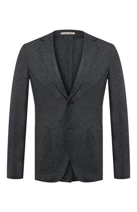 Мужской кашемировый пиджак BOTTEGA VENETA темно-серого цвета, арт. 513767/VELA0 | Фото 1