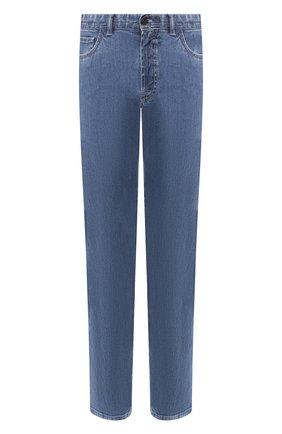 Мужские джинсы прямого кроя BRIONI голубого цвета, арт. SPLE0N/PZD01 | Фото 1