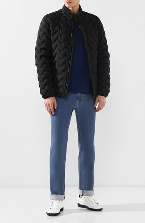 Мужские джинсы прямого кроя BRIONI голубого цвета, арт. SPLE0N/PZD01 | Фото 2