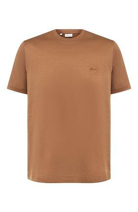Мужская хлопковая футболка с круглым вырезом BRIONI темно-бежевого цвета, арт. UJ9M0L/PZ600 | Фото 1