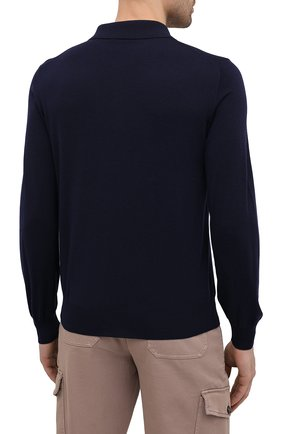 Мужское шерстяное поло BRIONI темно-синего цвета, арт. UMS10L/0ZK18   Фото 4