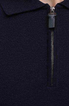Мужское шерстяное поло BRIONI темно-синего цвета, арт. UMS10L/0ZK18   Фото 5