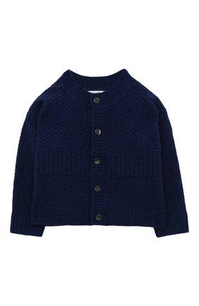 Детского комплект из кашемирового кардигана и комбинезона с носками BURBERRY синего цвета, арт. 8003756 | Фото 2