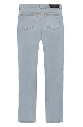 Детские джинсы прямого кроя BURBERRY голубого цвета, арт. 4063497 | Фото 2