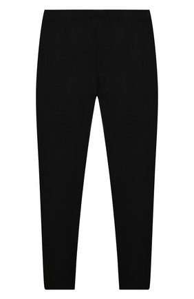 Детские кашемировые брюки GIORGETTI CASHMERE черного цвета, арт. MB933/WS/8A-14A | Фото 2 (Материал внешний: Шерсть, Кашемир; Девочки Кросс-КТ: Брюки-спорт; Статус проверки: Проверена категория)