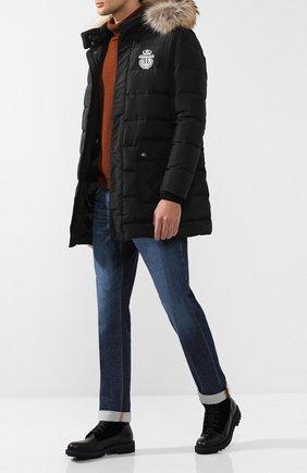 Мужские кожаные ботинки с внутренней меховой отделкой ZILLI черного цвета, арт. MDQ-BB027-D0199/002X | Фото 2