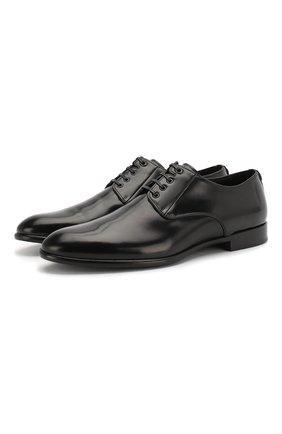 Мужской кожаные дерби naple DOLCE & GABBANA черного цвета, арт. A10306/AC460 | Фото 1