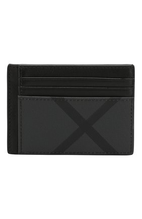 Мужской футляр для кредитных карт в клетку london check BURBERRY темно-серого цвета, арт. 8006034 | Фото 1