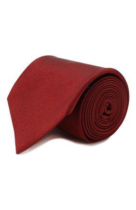 Мужской шелковый галстук BRIONI красного цвета, арт. 062I00/PZ418 | Фото 1
