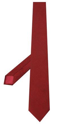 Мужской шелковый галстук BRIONI красного цвета, арт. 062I00/PZ418   Фото 2 (Материал: Текстиль; Принт: Без принта)